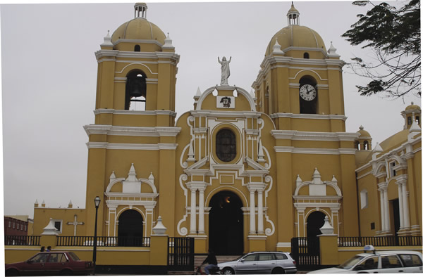 A colonial church in Trujillo
