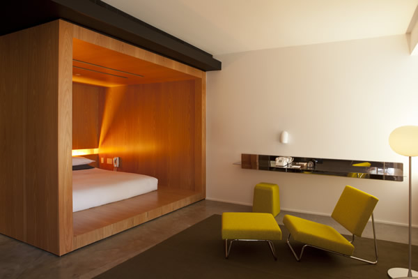 Accommodations at Hotel Americano in Chelsea.