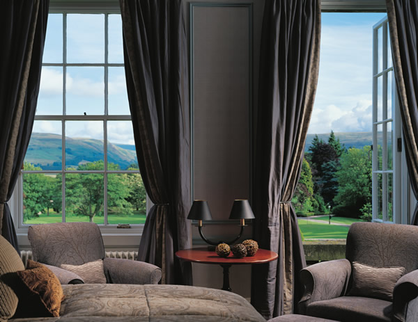 Accommodations at The Gleneagles Hotel in central Scotland