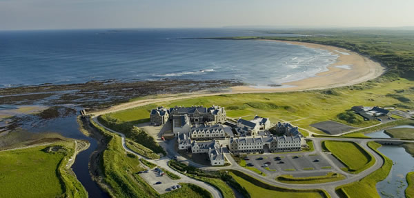Birds-eye view of Doonbeg in Ireland