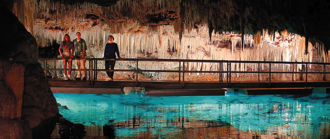 Crystal Caves in Bermuda.