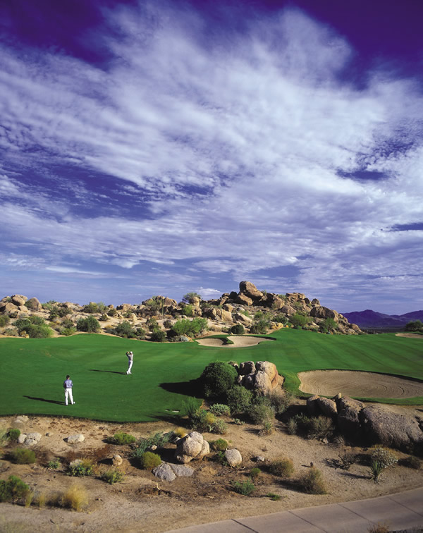 Four Seasons Resort Scotsdale at Troon North in Arizona offers two championship courses