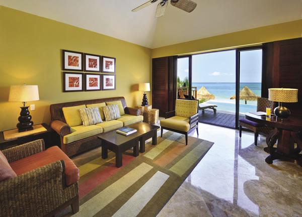 Guestroom at the Fairmont Mayakoba in the Riviera Maya.