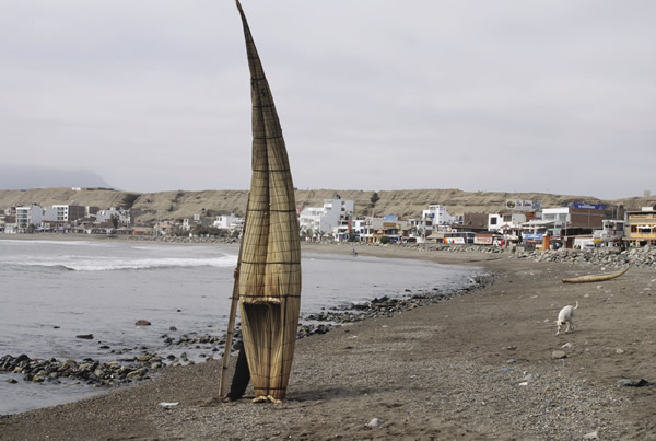 Reed boats in Huanchaco