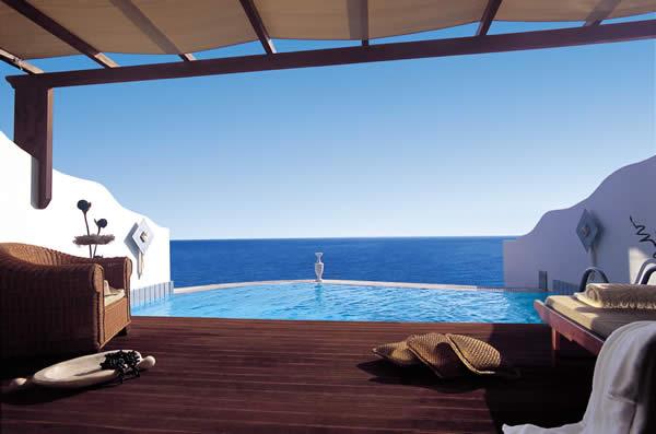 Royal Miconian Resort on Mykonos in Greece.
