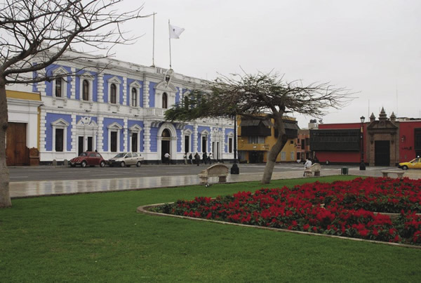 The Plaza de Armas in Trujillo