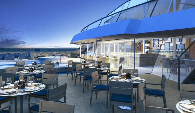 The Aquavit Terrace on Viking Star.