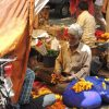 In Jaipur's Flower market.