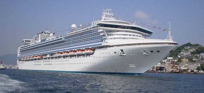 Sapphire Princess. (Photo courtesy of Princess Cruises.)