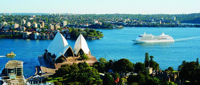 Silversea's Silver Shadow in Sydney.