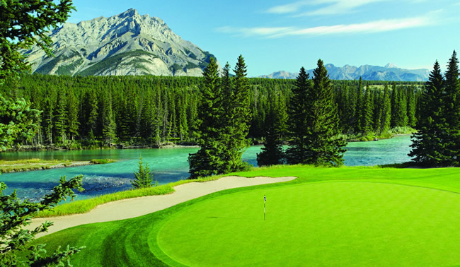 The Fairmont Banff Springs Golf Course. (Photo courtesy of The Fairmont Banff Springs.)