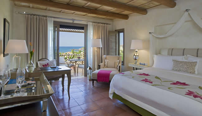 Deluxe Ocean View Room at The St. Regis Punta Mita Resort.