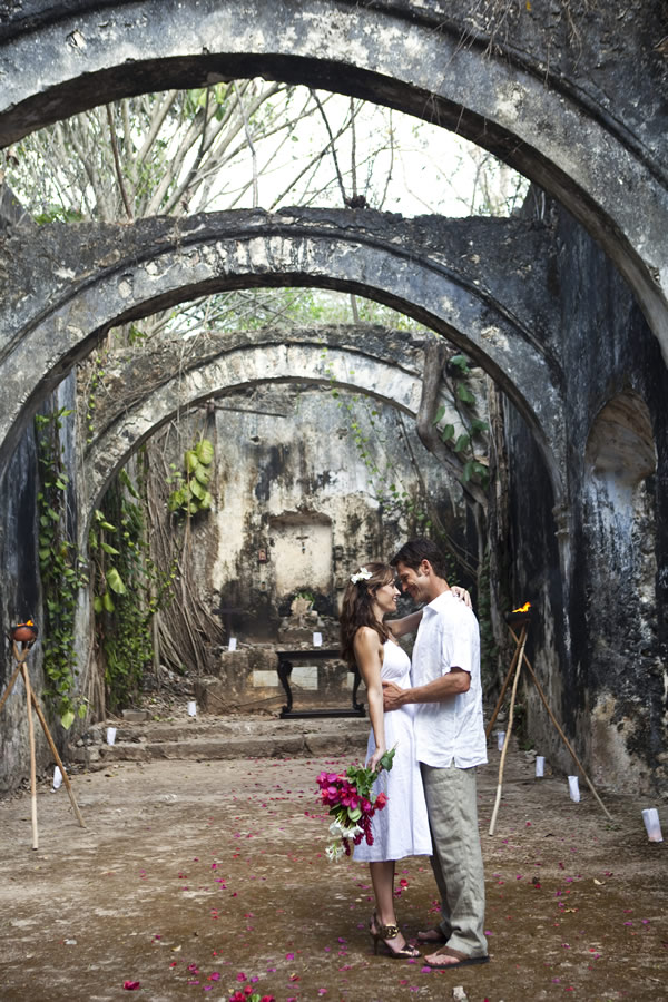 Couples can marry in a traditional hacienda, part of Starwood's The Luxury Collection Haciendas