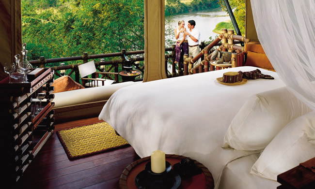 Four Seasons Tented Camp Golden Triangle in Thailand.