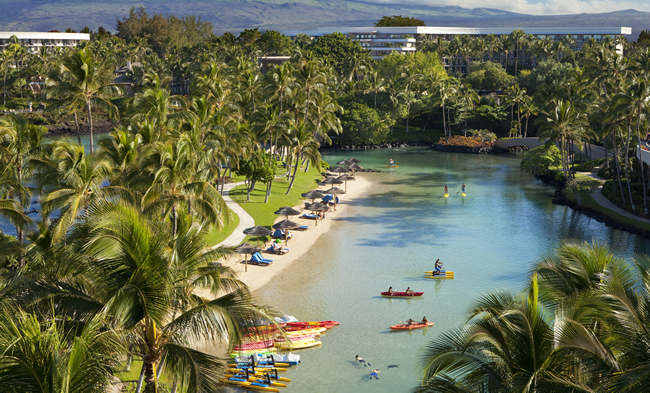 Hilton Waikoloa in Hawaii.
