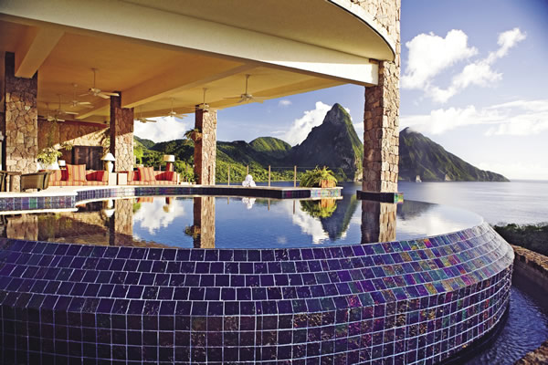 Jade Mountain, on Saint Lucia's western coast.