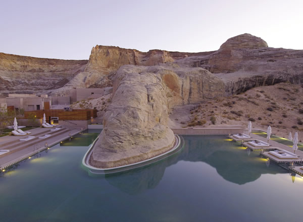 Poolside at Amangiri in Utah