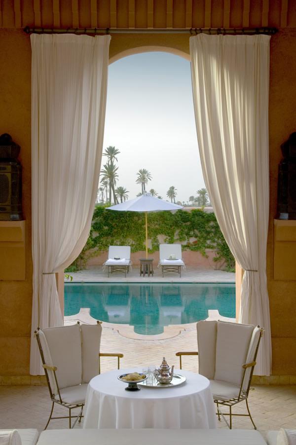 Private pool at the Amanjena in Morocoo.