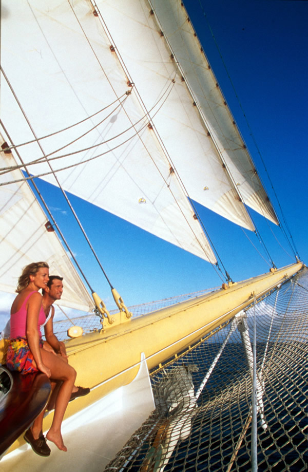 The romance of sailing makes Star Clippers an ideal choice for honeymooners.