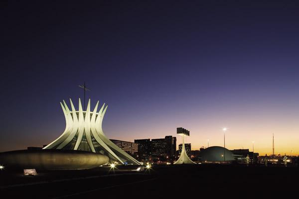 Brasilia's Catedral Metropolitana Nossa Senhora Aparecida.