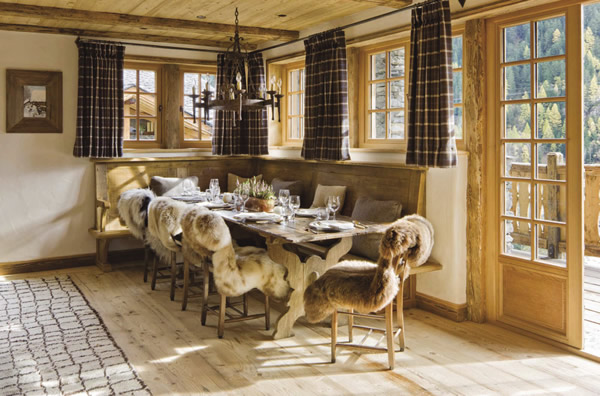Chalet guests have access to a communal dining room