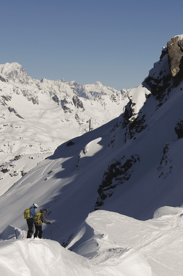 Chalet guests have access to off-piste skiing in the Alps