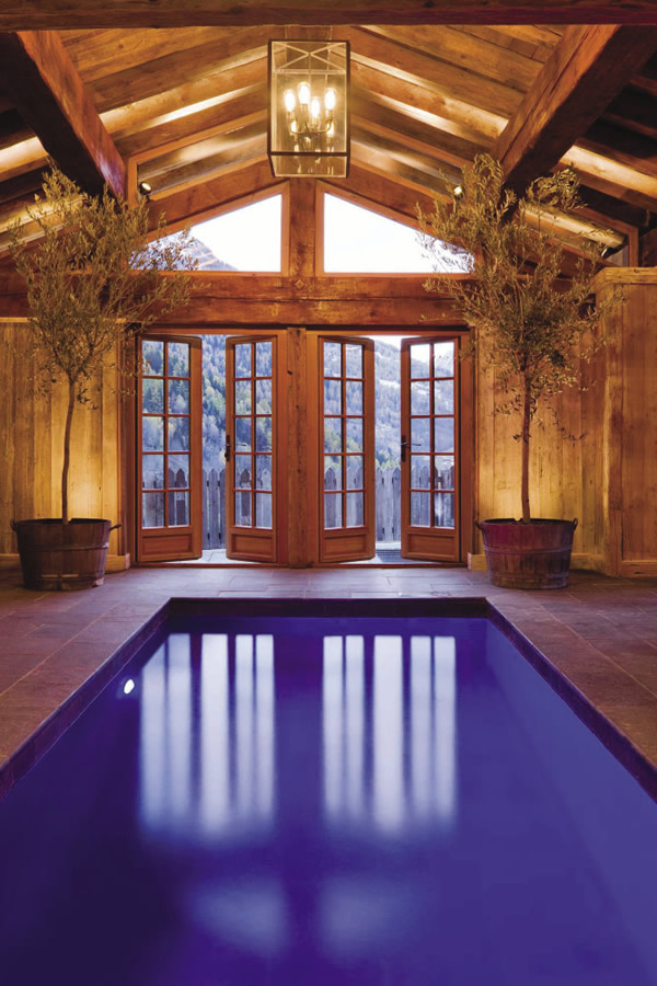 Chalet guests have access to top-of-the-line amenities such as an indoor pool