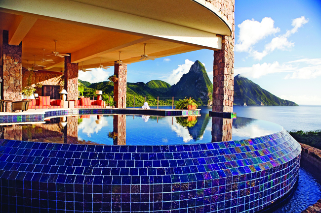 Jade Mountain in Saint Lucia was one of the exhibitors at LE Miami 2013. (photo courtesy of Jade Mountain)