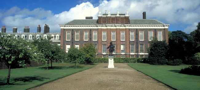 Kensington Palace, where the royal family will live.