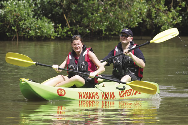 Nanan's kayak adventure on Caroni Swamp.
