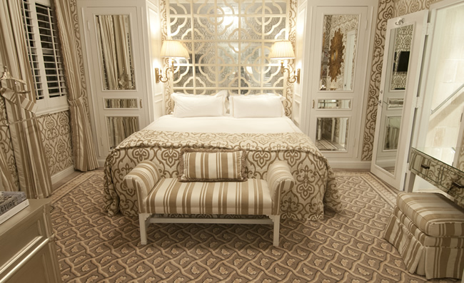 A 1-bedroom suite at the Chesterfield Palm Beach. (Photo courtesy of Red Carnation Hotels.)
