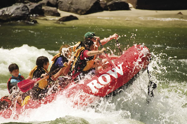 ROW Adventures offers white-water rafting trips in North America's rivers.