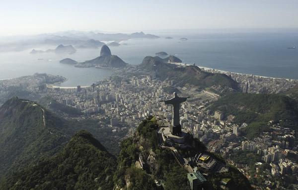 Rio de Janeiro's famous landscape, a UNESCO World Heritage site.