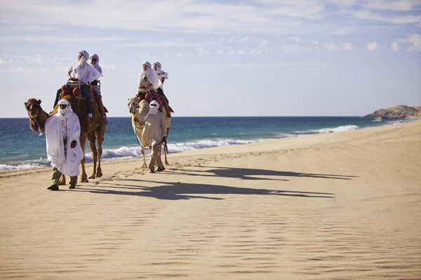 Travelers to this part of Mexico can go camel riding along the shoreline