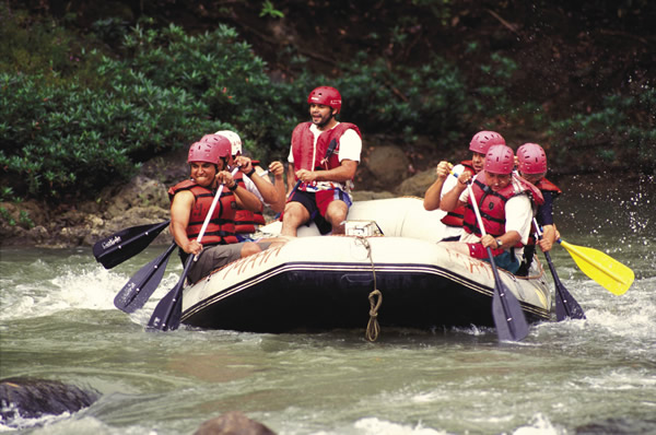 White-water rafting and exploring Maya ruins are just some of the many adventures available for active vacationers.
