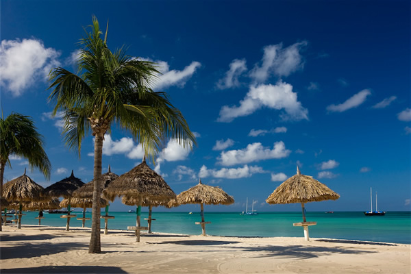 Beachside at the Aruba Marriott Resort and Stellaris Casino.