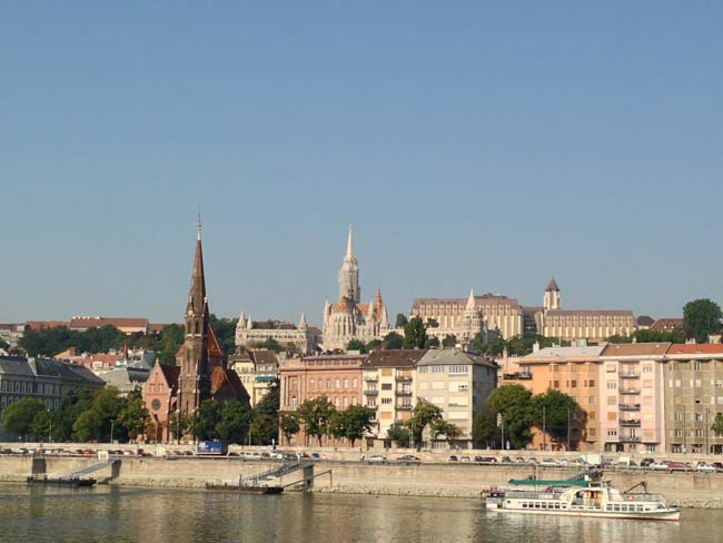 View of Budapest from the River.