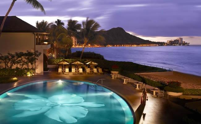 The Orchid pool at Halekulani in Honolulu.