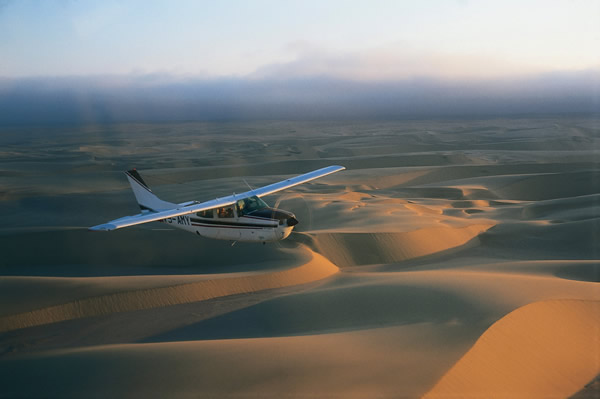 Jacada clients can opt for a flying safari in Namibia.