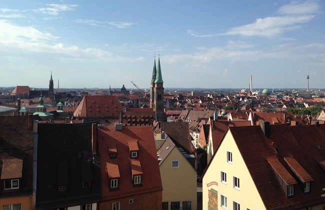 A view of Nuremberg from the Imperial Castle.