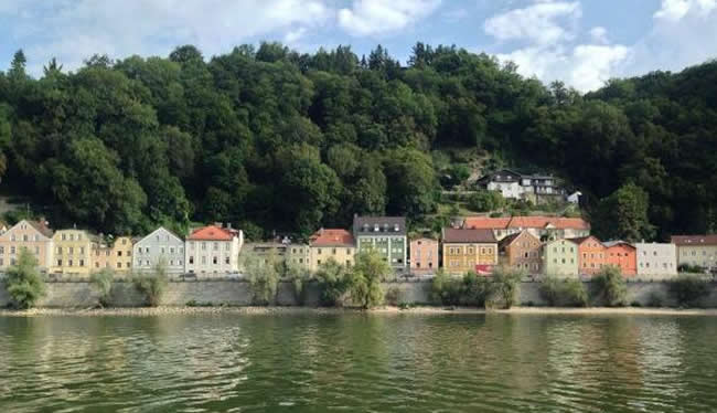 The view of Passau, Germany from the ship.
