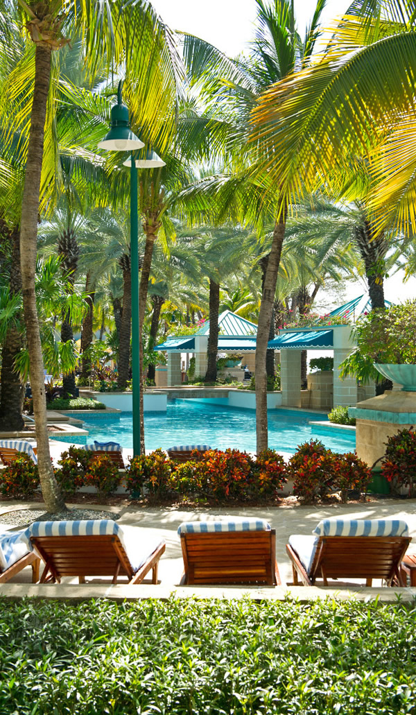 Poolside at the Westin Grand Cayman Seven Mile Beach Resort and Spa.