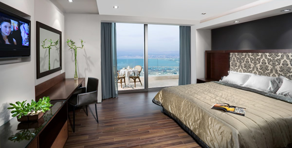 Suite accommodations at the Dan Carmel in Haifa.