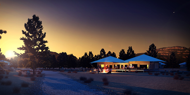 Wilpena luxury safari tents
