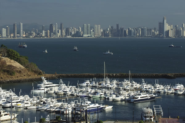 Amador Causeway with a view of Panama City