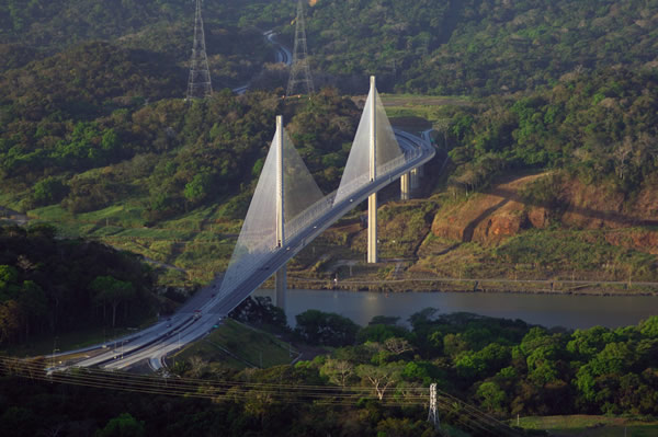 Centennial Bridge spans the Panama Canal