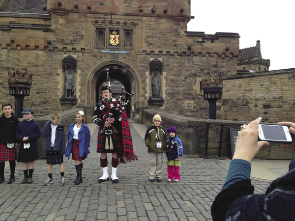 Enjoy a welcome reception at Edinburgh Castle.