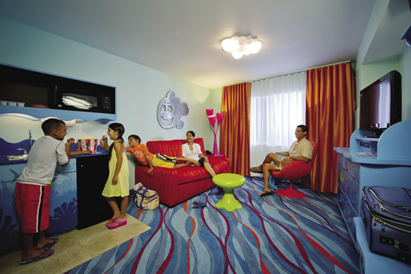 Finding Nemo family suite at Art of Animation Resort.