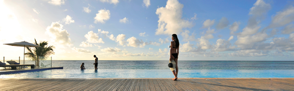 Guests of the 5 Trident Luxury Space have access to a private infinity pool.