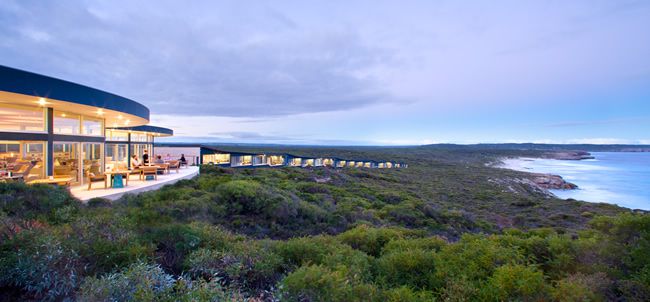 Southern Ocean Lodge on Kangaroo Island.
